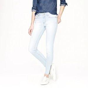 [J. Crew] Striped Toothpick Jeans Ankle Zips Sz.28